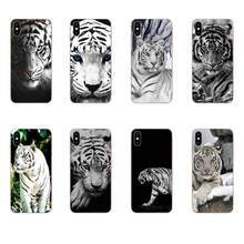 Painted Phone Case Cute Animal White Tiger For Xiaomi Mi3 Mi4 Mi4C Mi4i Mi5 Mi 5S 5X 6 6X 8 SE Pro Lite A1 Max Mix 2 Note 3 4(China)