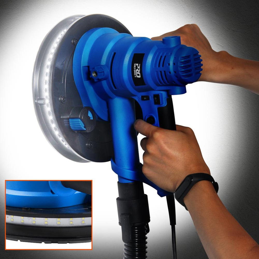 Image 5 - PROSTORMER Drywall Sander Wall Polishing Machine Grinding 230V 750W  Portable Led Light 610 2150/min Wall Putty Polisher Machine-in Polishers from Tools on