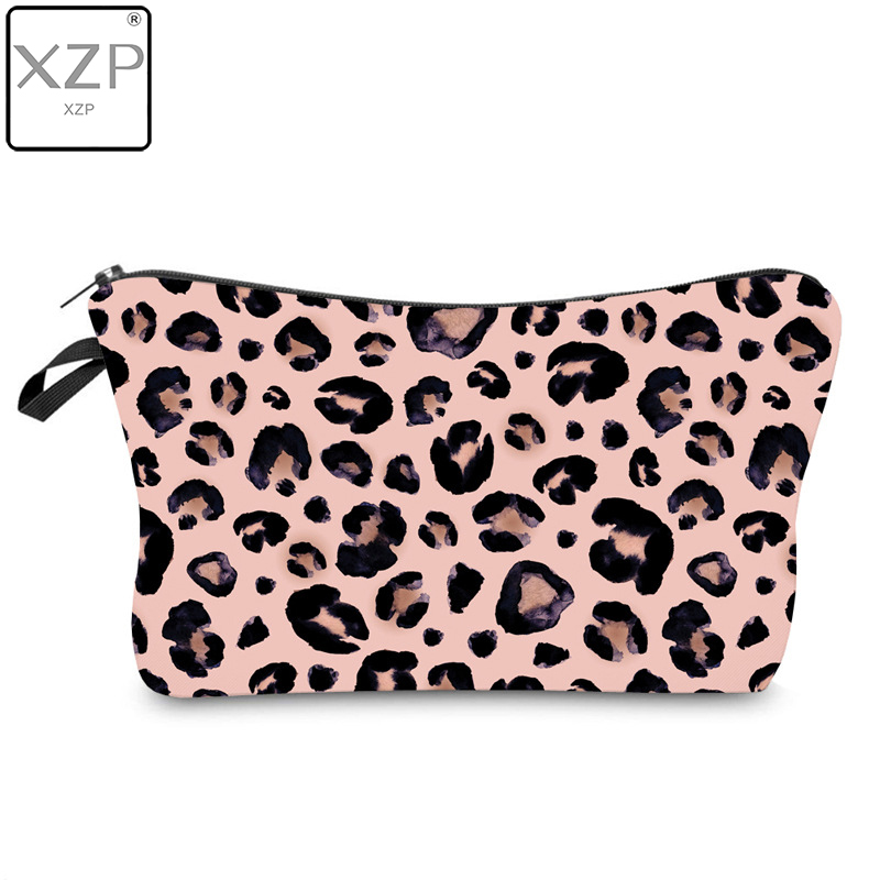 XZP Waterproof Sexy Resistant Makeup Bag Printing Leopard Cosmetic Bag Organizer Bag Women Travel Bag Multifunction Beauty Bag