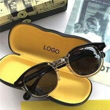Lemtosh – lunettes de soleil pour hommes et femmes, verres polarisés, Johnny Depp, marque de luxe, monture en acétate Vintage, qualité supérieure 008