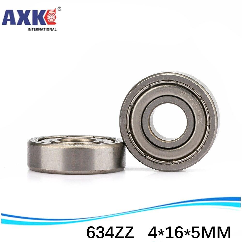 Flange Metal Shielded Ball Bearing F634 4*16*5 4x16x5 mm F634zz 10 PCS