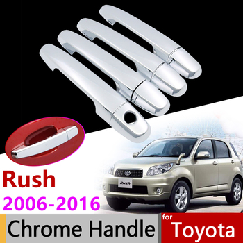 Car Exterior Accessories Door Chrome Handle Cover for Toyota Rush 2006~2016 2007 2008 2010 2012 2014 2015 Trim Set Stickers image