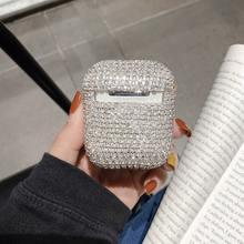 Чехол для airpods pro Роскошные блестящие 3d бриллиантовые наушники
