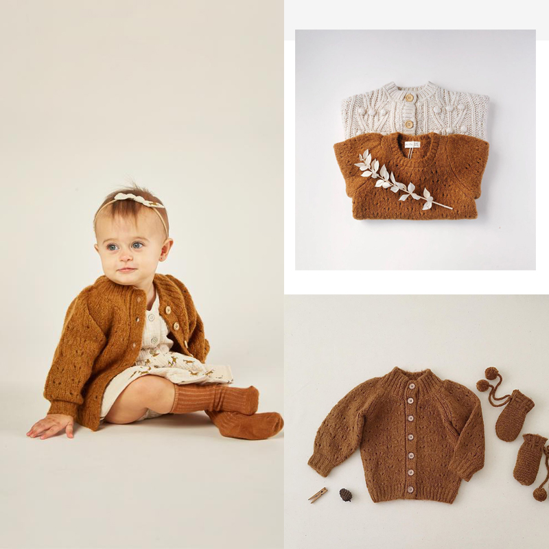 2020 RC Brand New Autumn Kids 8%mohair Sweaters for Boys Girls Cute Knit Cardigan Baby Toddler Child Cotton Outfits Clothes