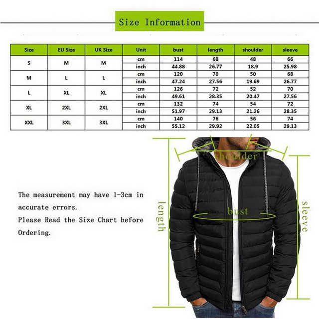 2020 Winter Hooded Jackets Padded jacket men Thicken Warm Lightweight Parkas  New Males Windproof Jackets 6