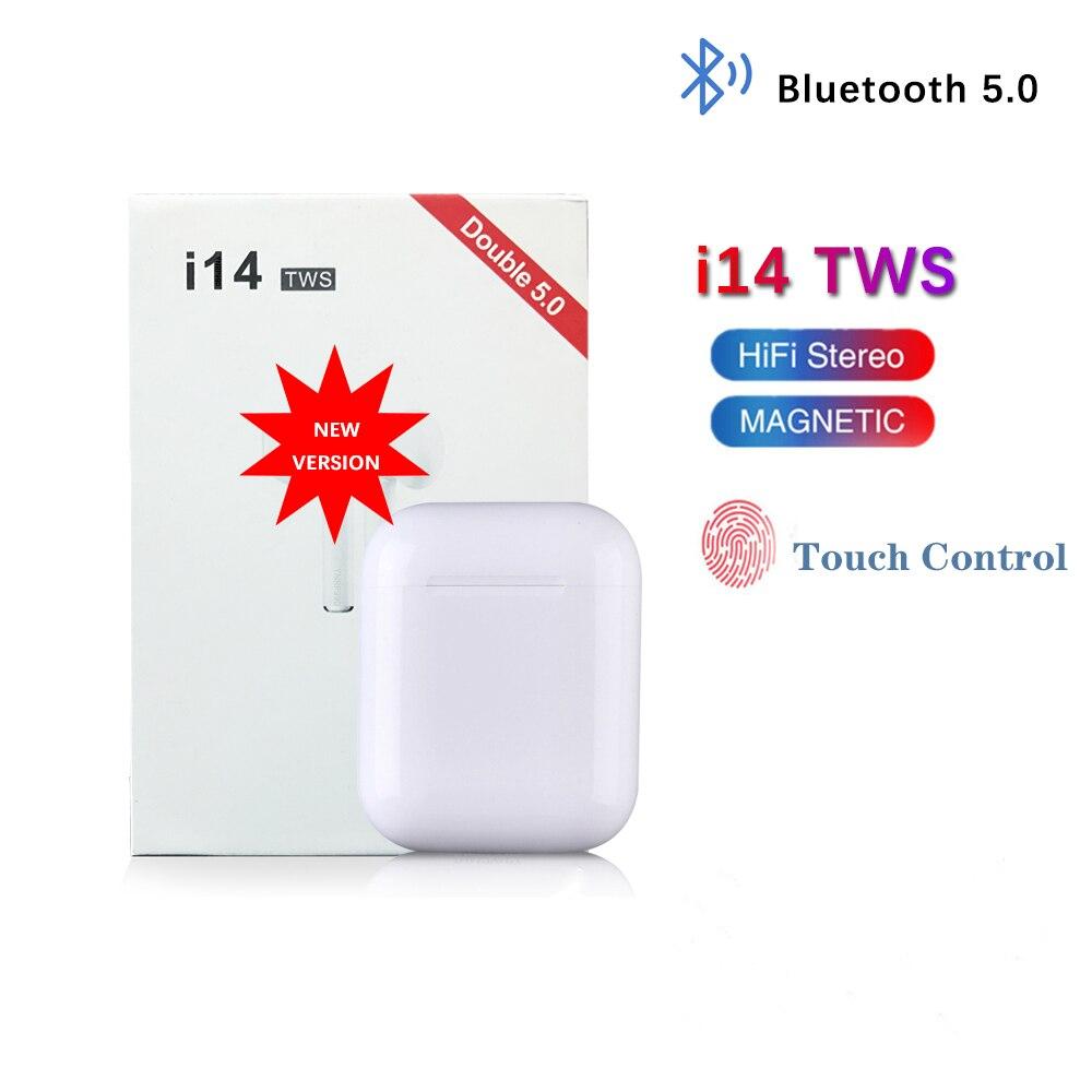 I14 Tws Bluetooth наушники беспроводные наушники гарнитура стерео наушники в ухо с зарядной коробкой Kulaklik fone sem fio