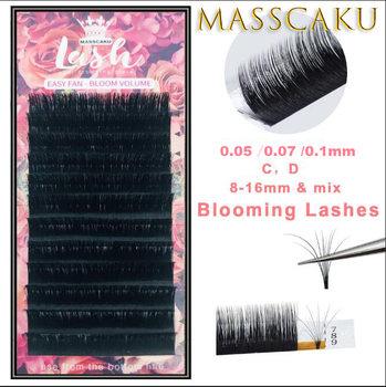 New arrived 0.05/0.07/0.10 C/D 1 pcs magic eyelash volume easy to make fan effect false and blooming faux mink lashes