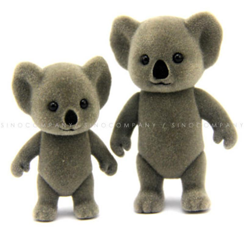 2pcs Dolls Without Cloth Sylvanian Koala Family Figures Mon Babies Figures Doll Toys Child DIY Role Playing Gift Free Shipping