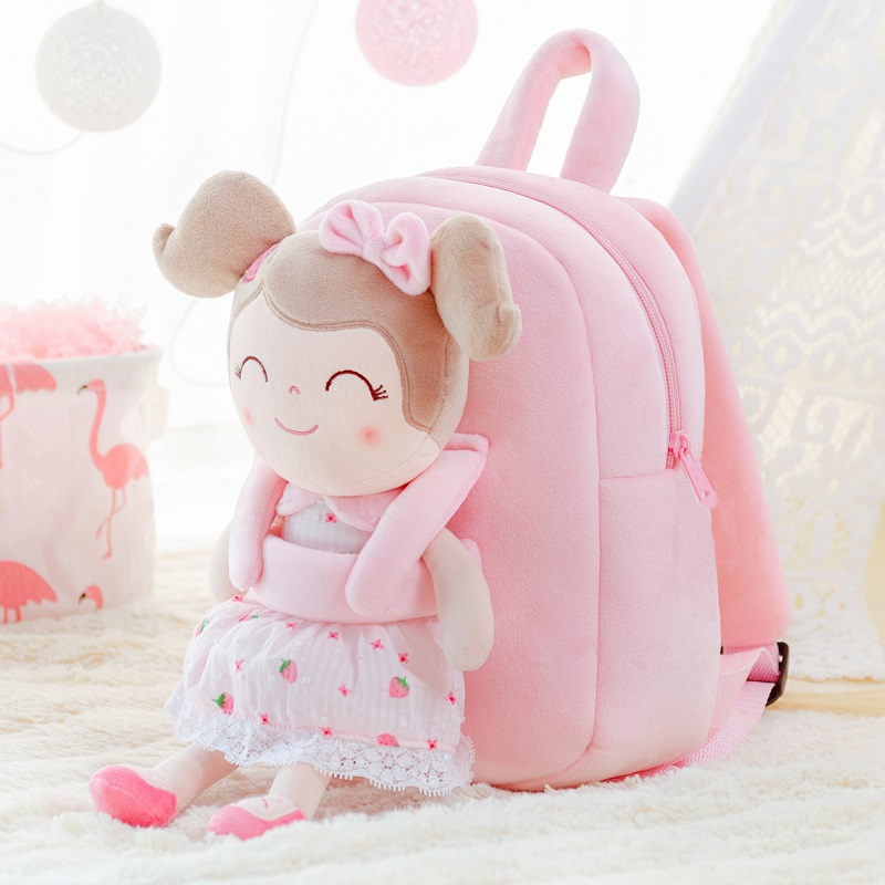 Backpack Baby Girls Backpacks Toddler Bags Spring Girl Strawberry Toy Stuffed Dolls First Baby Gifts Just6F