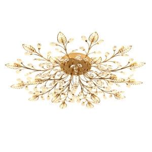 Image 5 - Chandelier Modern Crystal Decoration Chandeliers Ceiling For Living Room Bedroom Dining Room G9 Black/Gold Iron lighting Fixture