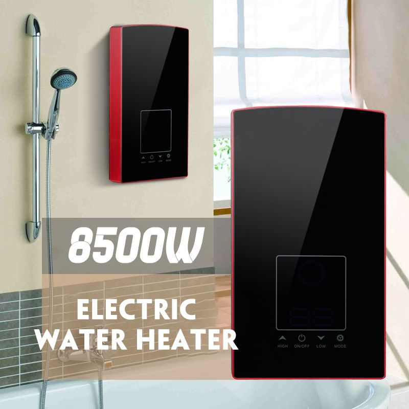 8500W LCD Digital Electric Water Heater Touching Voice Control Constant Temperature Instant Tankless Water Heaters 220V/110V