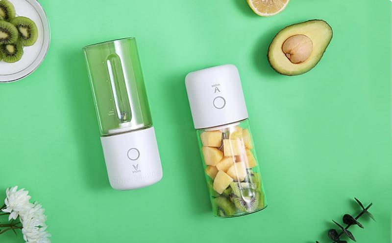 XIAOMI VIOMI Blender Handheld Portable Juicer For Electric Kitchen Mixer Fruit Cup Food Processor 45 seconds quick Juicing 8