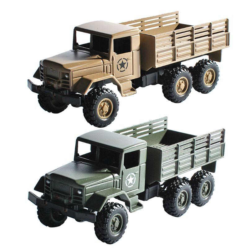 Wpl mb14 164 carro rc inércia modelo 6 roda de metal caminhão simulação veículo brinquedo para crianças decoração