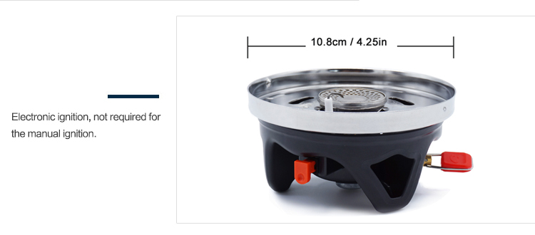 Portable 1400ml Cooking System Outdoor Hiking Camping Stove Heat Exchanger Pot Propane Gas Burners