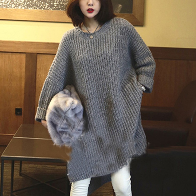 Fashion New Winter Ladies Long Sleeve Sweater Harajuku O Neck Women Pullover Knitted Sweater Casual Loose Fit Sweaters For Women