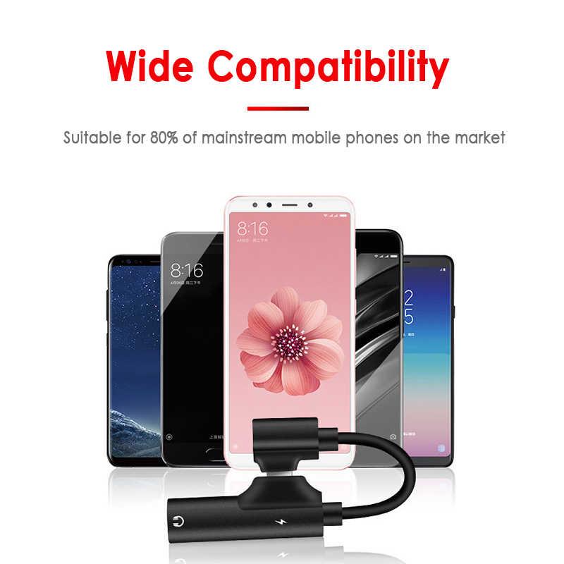 Loại C Đến 3.5 Mm Jack Cắm Tai Nghe 3.5 Mm Âm Thanh AUX Cáp Cho Huawei P30 Pro Xiaomi Mi 9 8 Âm Thanh USB C Adapter TXTB1