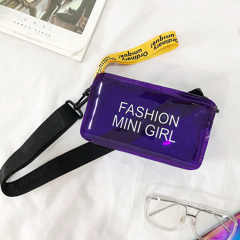 2020 New Style Korean-style Trend Of Fashion Mini Cool Versatile Shoulder Gel Bag Crossbody Messager Bag