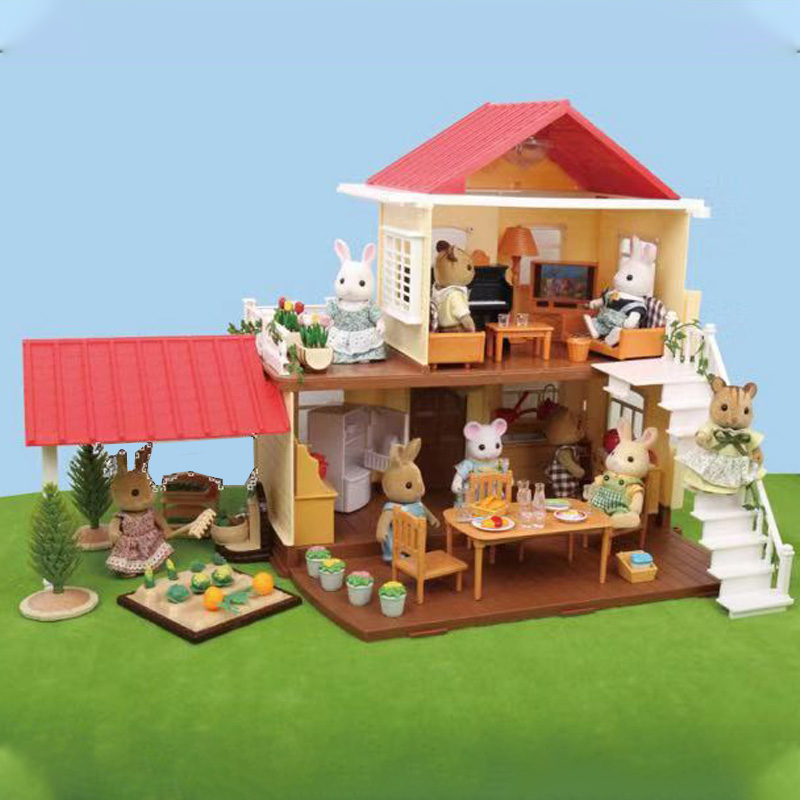 1:12 Forest House Children's Home Villa Kitchen House Toy Forest Animal Family Mini Villa Girl Home Toy House Gift
