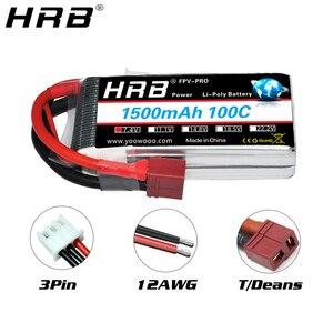 Image 2 - HRB 2S Lipo Batteria 1500mah 7.4V XT60 T Deans EC2 EC3 EC5 XT90 Femmina RC Parti di 100C per FPV Drone Aereo Da Corsa Auto Barca Camion