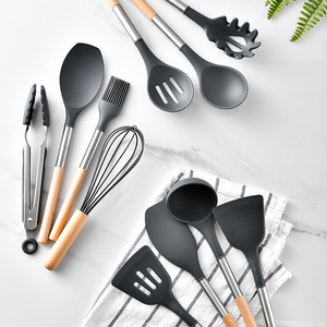 Image 2 - 10/11PCS Silicone Kitchenware Non stick Cookware Cooking Tool Spatula Ladle Egg Beaters Shovel Spoon Soup Kitchen Utensils Set