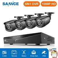 SANNCE HD 8CH CCTV система 1080P HDMI DVR 2.0MP CCTV камера безопасности 4 шт. 1080P ИК наружная Камера видеонаблюдения комплект