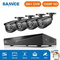 SANNCE HD 8CH CCTV System 1080P HDMI DVR 2.0MP CCTV Security Camera 4PCS 1080P IR Outdoor Camera Video Surveillance kit