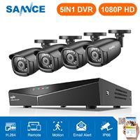 Precio SANNCE HD 8CH CCTV sistema 1080P HDMI DVR 2.0MP cámara de seguridad CCTV 4 Uds 1080P IR al aire libre cámara de vídeo de vigilancia kit