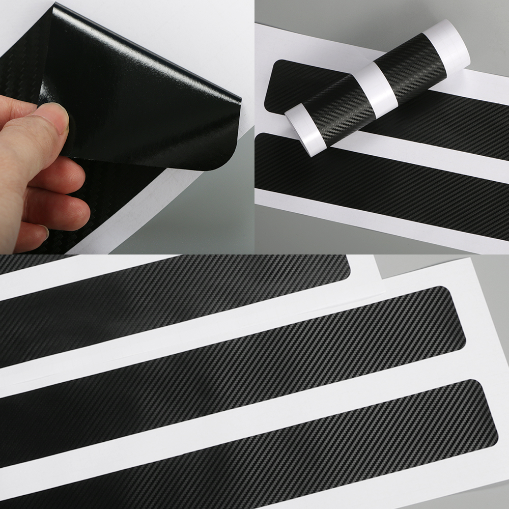 4PCS Car Door Sill Carbon Stickers For...