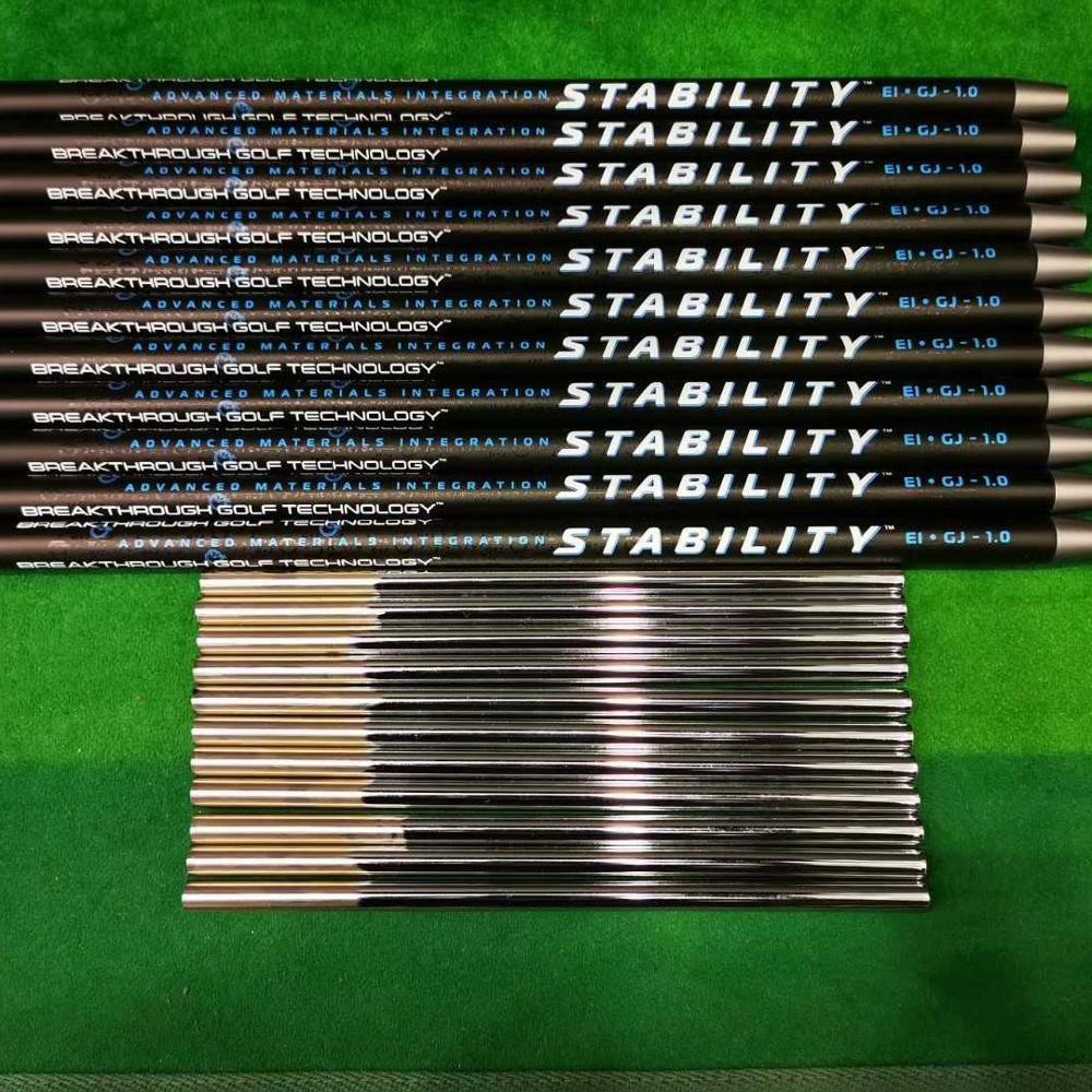 Golf Mili KARARLıLıK Siyah Golf Atıcı Grafit Mil Karbon çelik Gümrüklü Kararlı Itme çubuğu ücretsiz Kargo.