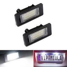 A Pair 24 LED 3528 SMD LED License Plate Lights Lamps Bulbs 6000K Cool White Fit For BMW E82 E90 E92 E93 M3 E39 E60 E70 X5 стоимость