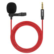 3.5mm Lavalier Microphone Omnidirectional Condenser Microphone with 360°High Sensitivity Condenser Support for Smartphone
