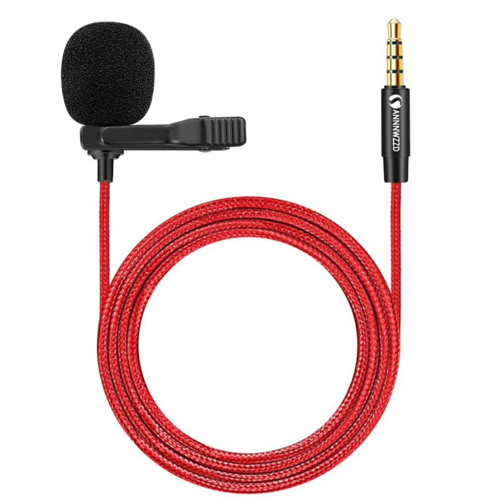 Microfone omnidirecional do condensador do microfone da lavalier de 3.5mm com suporte alto do condensador da sensibilidade de 360 ° para smartphone