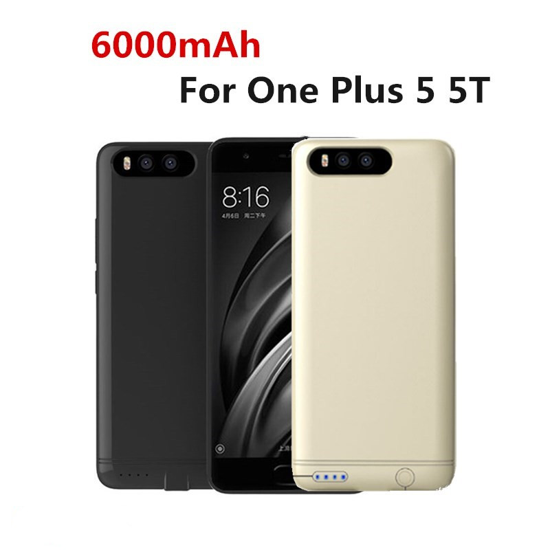 NTSPACE 6000mAh Portable Power Bank For Oneplus 5 Battery Charger Cover For Oneplus 5T External Backup Battery Charging Case