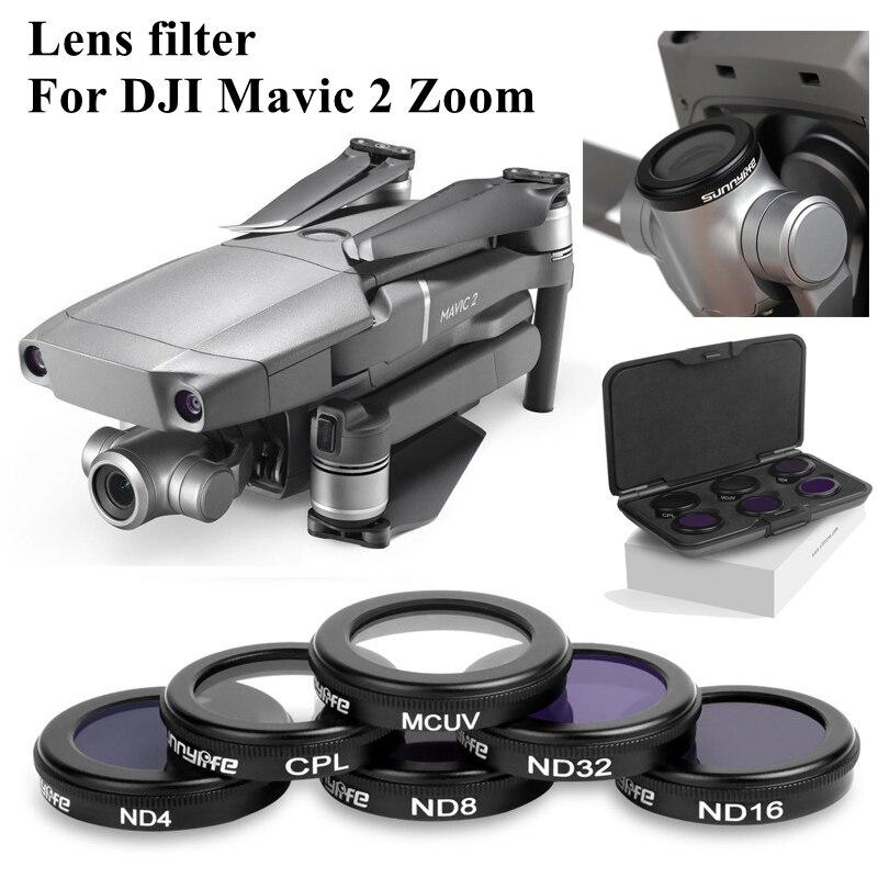Mavic 2 זום Drone 4K מצלמה עדשת מסנן MCUV CPL ND4 ND8 ND16 ND32 מסנן עבור DJI Mavic 2 אביזרי זכוכית עדשת מגן מקרה