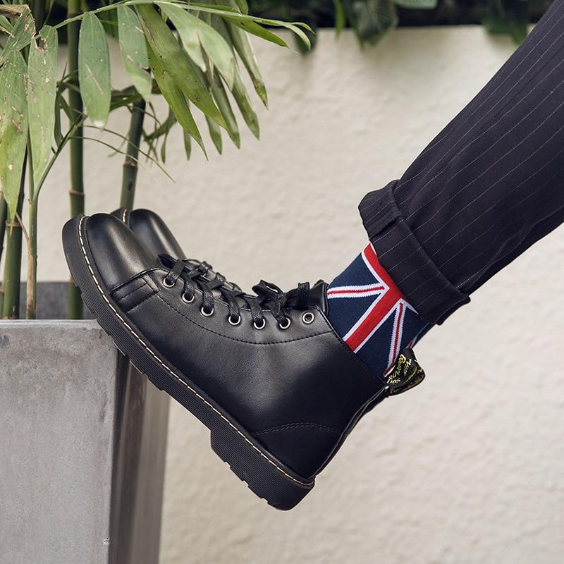 Brand New Arrival 2019 Men Boots British Style Leather Botas Winter Autumn Men Shoes Ankle Boot Men's Snow Shoe Work Plus Size