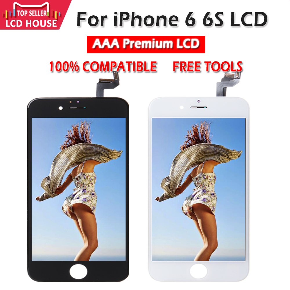 Black White LCD for <font><b>iPhone</b></font> 6 <font><b>6S</b></font> LCD Display Digitizer Touch Screen AAA Quality <font><b>Ecran</b></font> Replacement for <font><b>iPhone</b></font> 6G <font><b>6S</b></font> HOT Aliexpress image