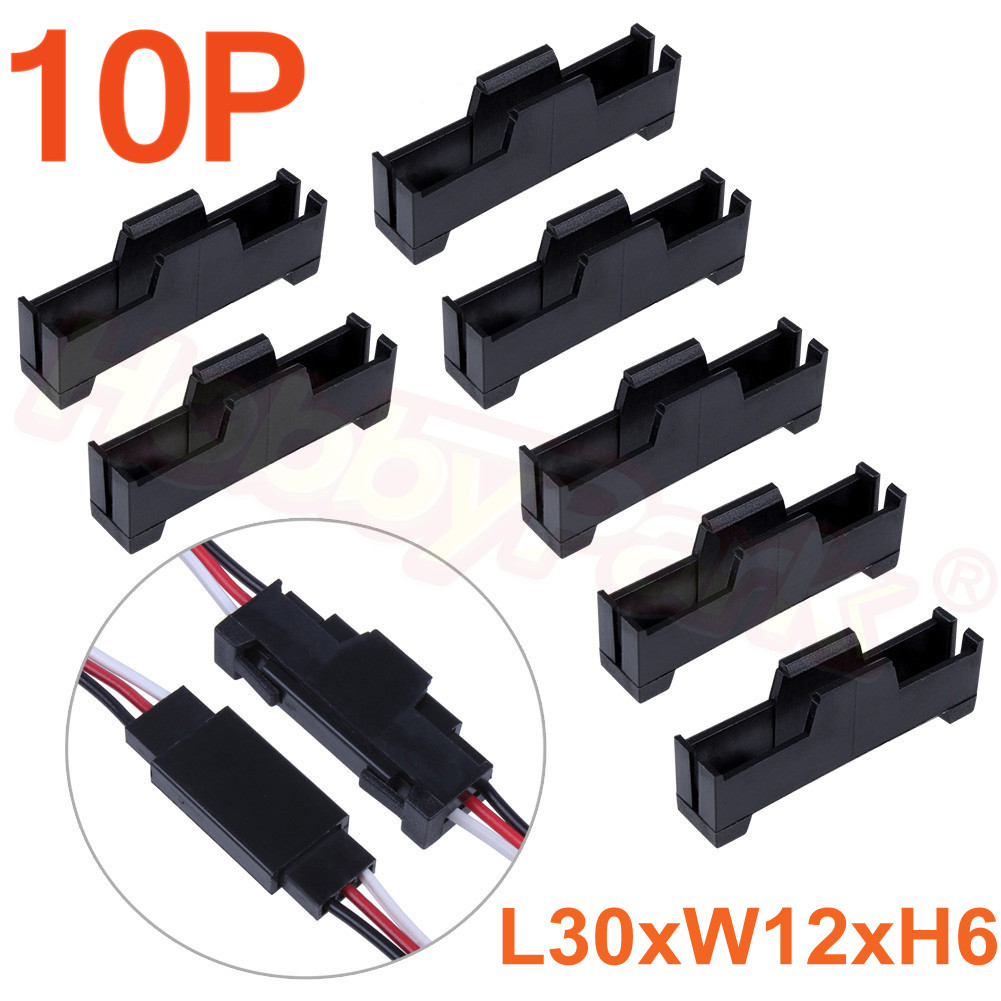 10pcs Nylon Extension Servo Lead Lock L30xW12xH6 Mm For Futaba JR RC Airplane Replacement Parts