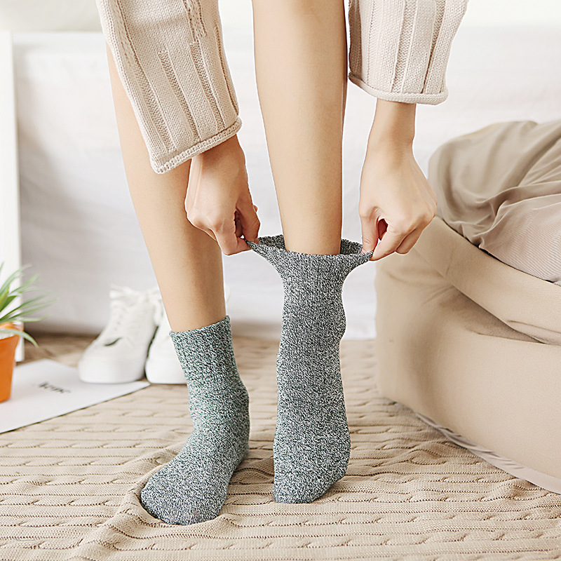 2019 Promotion Casual Pug Funny Socks Calcetines Mujer Autumn And Winter New Women's Socks Retro Color Cuffed Tube Warm Cotton