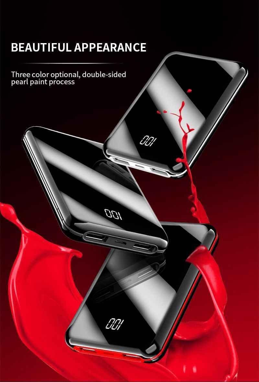 Mini Power Bank 30000mAh Für iPhone 7 8 X Samsung Power Pover Bank Ladegerät Dual Usb Ports Externe Batterie poverbank Po