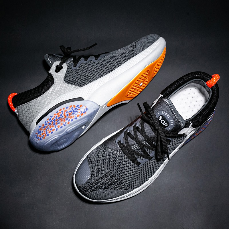 Popular Hot Sale Men New Spring Breathable Mesh Male Fashion Causal Shoes For Men Lace-up Ultra Light Weight Soft Bottom Shoe