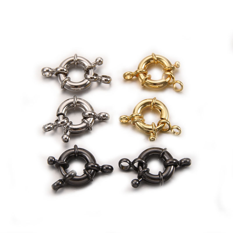 13mm Round Clavicle Necklace Clasp DIY Jewelry Accessories