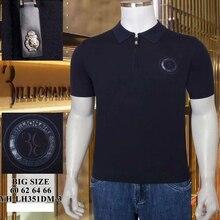 Billionaire polo shirt silk big size 60-66 5XL-8XL men 2021 New fashion summer short sleeve high quality Breathable elasticity