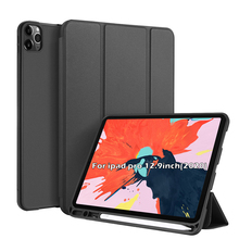 цена на Case For iPad Pro 12.9 2020 Leather Tablet Case Anti-Scratch Flip Stand Sleep/Wake Pen Holder Protective Cover For iPad Pro 12.9