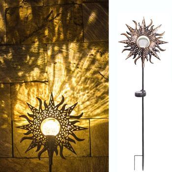LED Solar Flame Light Metal LED Garden Light Flame Effect Lamp Waterproof Outdoor Lights Landscape Lights Solar Decorative Light 9
