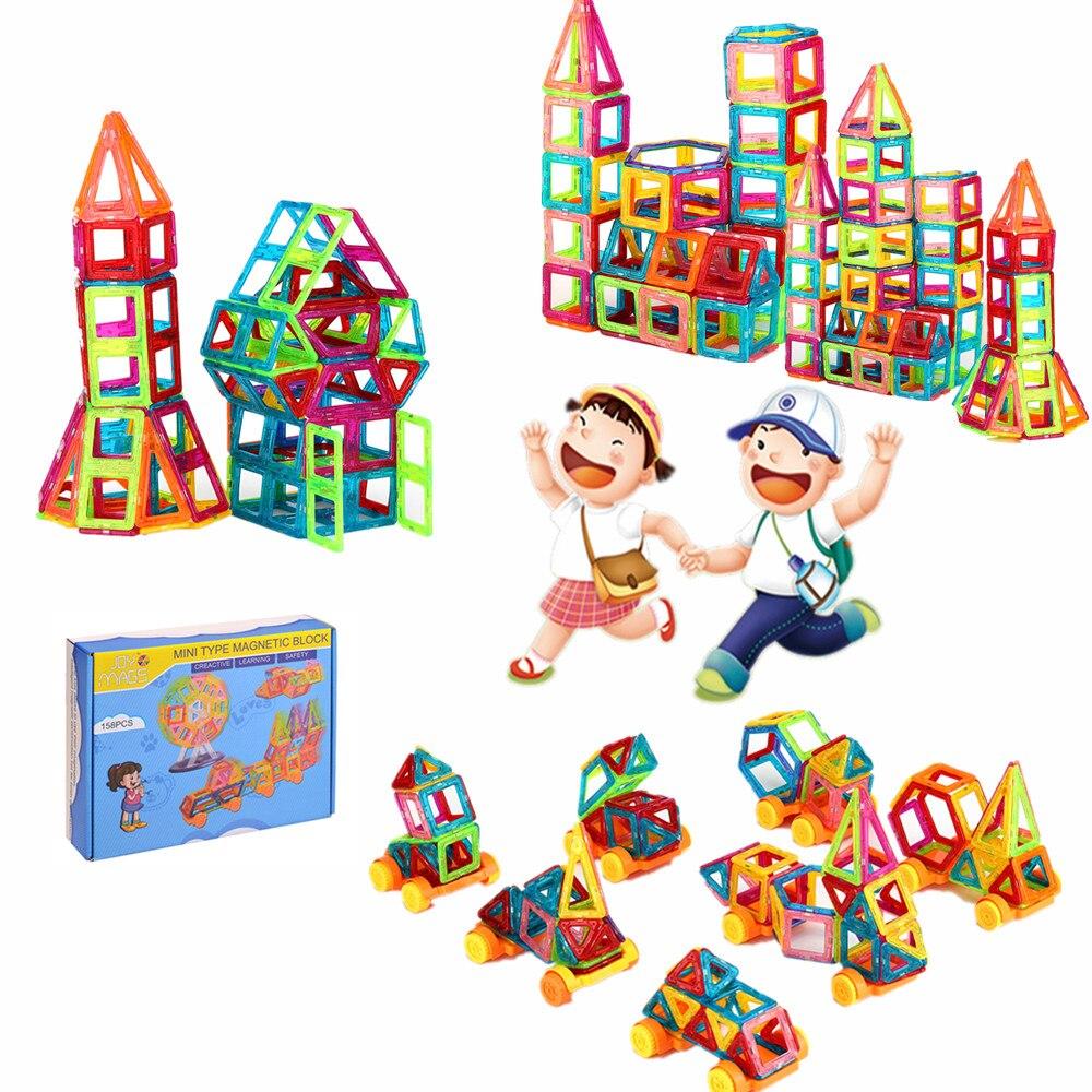 SuSenGo Magnetic Designer Construction Plastic Magnetics Blocks Educational DIY Toys Building Gift For Children Baby