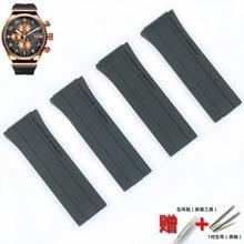 Correa de goma suave para hombre y mujer, Correa deportiva de silicona resistente al agua, accesorios de reloj, Diseño Porsche P6780
