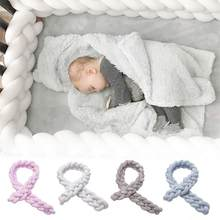 Baby Bumper Bed Braid Knot Pillow Cushion Bumper For Infant Baby Crib Protector Cot Bumper Room Decor For Baby Safty Supplies(China)