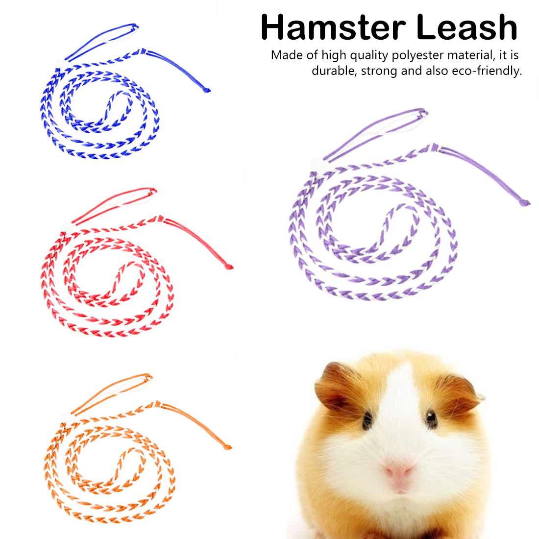 1.4m Adjustable Rat Mouse Hamster Pet Leash Pet Hamster Leash Harness Rope Gerbil Harness Lead Collar For Pet