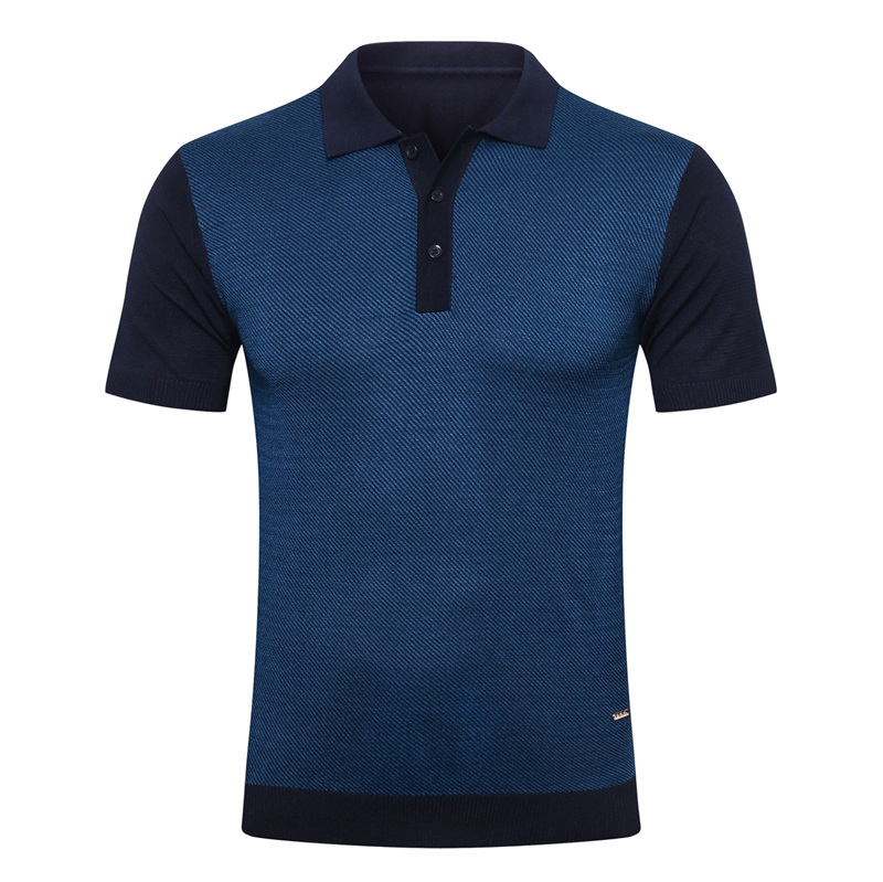 Billionaire polo shirt silk men 2021 New Business simple short sleeve new thin Button pattern Breathable big size M-5XL quality