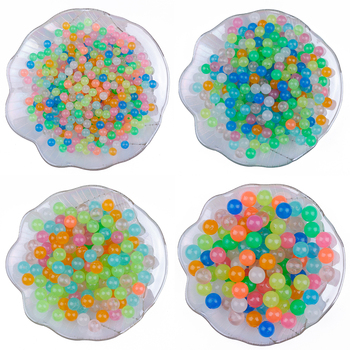 50-200 sztuk 6 8 10 12mm kryształ akrylowy świecące w ciemności Luminous dzieci zabawka dla dzieci kula wodna koraliki ślubne strona dekoracji domu tanie i dobre opinie CN (pochodzenie) Kryształowa gleba BSD395 about 1 8-2mm not the grow up beads